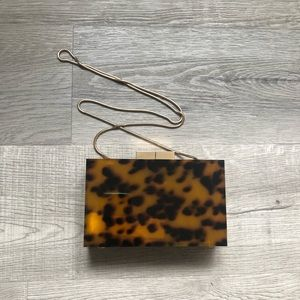 Zara Tortoiseshell Rectangle Box Clutch